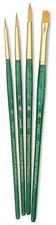 Art Supplies - Princeton RealValue Brush Set 9116 Golden Taklon Short Handle Set of 4 (ART 121)