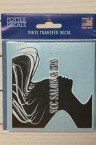 """Decal - SCC Salon & Spa 3.5"""" x 3.5"""" - Black & White"""