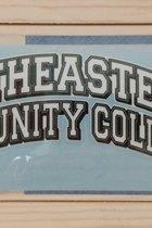 "Decal - Southeastern Community College Arch 3.4"" x 7.5"" - Bright Orange / Reflex Blue / White"